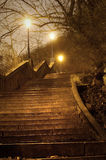 Escalera en la noche Imagen de archivo libre de regalías