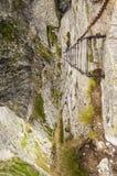 Escalera en las montañas Fotografía de archivo libre de regalías