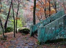 Escalera en montañas fotografía de archivo libre de regalías