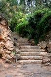 Escalera en parque Imágenes de archivo libres de regalías