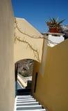 Escalera en Santorini Imagen de archivo