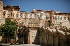 Escalera en Teruel Foto de archivo