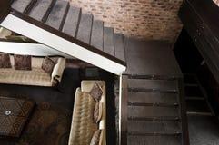 Escalera en un apartamento moderno Fotografía de archivo