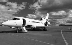 Escalera en un jet privado fotos de archivo
