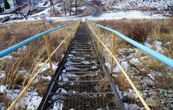 ¡Escalera en una montaña! Fotos de archivo libres de regalías