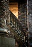 Escalera encendida Foto de archivo libre de regalías