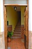 Escalera española Ronda España de la entrada Imagenes de archivo