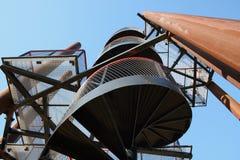 Escalera espiral. Fotografía de archivo