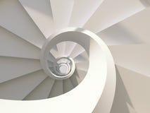 Escalera espiral ilustración del vector