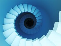 escalera espiral 3d Imagen de archivo
