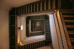 Escalera espiral al cielo Fotos de archivo libres de regalías