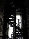Escalera espiral antigua Imágenes de archivo libres de regalías