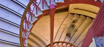 Escalera espiral con un blurre Imagen de archivo libre de regalías