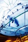 Escalera espiral de cristal Foto de archivo libre de regalías