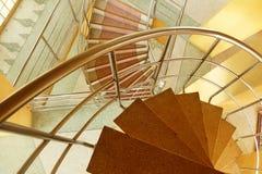 Escalera espiral de mármol Fotos de archivo libres de regalías