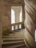 Escalera espiral de piedra Fotos de archivo libres de regalías