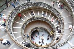 Escalera espiral de Vatican Imágenes de archivo libres de regalías