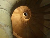 Escalera espiral del caracol Foto de archivo libre de regalías
