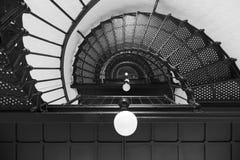 Escalera espiral del faro Fotos de archivo