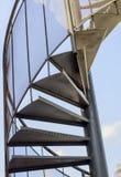 Escalera espiral del hierro Fotos de archivo libres de regalías