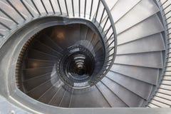 Escalera espiral del metal fotografía de archivo