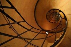 Escalera espiral dentro de Arc de Triomphe Imagen de archivo