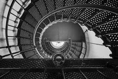 Escalera espiral desde arriba Imágenes de archivo libres de regalías