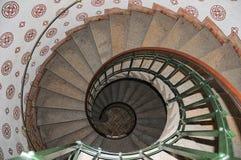 Escalera espiral en ayuntamiento Copenhague Foto de archivo