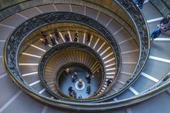 Escalera espiral en el museo del Vaticano en la Ciudad del Vaticano Imagen de archivo