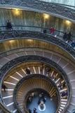 Escalera espiral en el museo del Vaticano en la Ciudad del Vaticano Fotografía de archivo