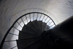 Escalera espiral en faro Imagen de archivo
