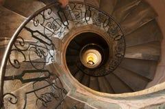 Escalera espiral en la abadía de Melk en Austria Foto de archivo