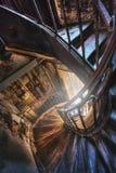 Escalera espiral en la casa vieja Fotografía de archivo