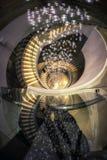Escalera espiral en pasillo del hotel Foto de archivo libre de regalías