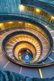 Escalera espiral en Vaticano Imagen de archivo