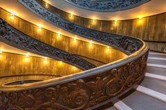 Escalera espiral en Vaticano Imágenes de archivo libres de regalías