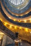 Escalera espiral en Vaticano Fotos de archivo libres de regalías