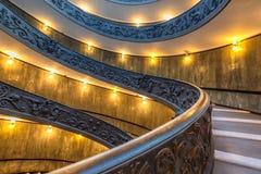 Escalera espiral en Vaticano Foto de archivo