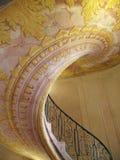 Escalera espiral hermosa en la abadía de Melk, Austria Fotografía de archivo libre de regalías