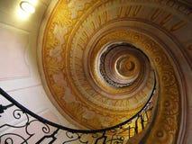 Escalera espiral imponente en la abadía de Melk, Austria Foto de archivo