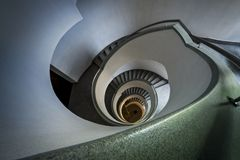 Escalera espiral moderna Fotografía de archivo libre de regalías