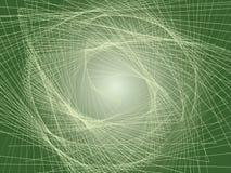 Escalera espiral verde imágenes de archivo libres de regalías