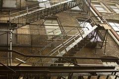Escalera externa de la emergencia Fotografía de archivo