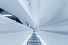 Escalera futurista Imagen de archivo libre de regalías