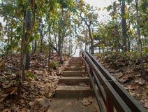Escalera hasta la montaña Imagen de archivo