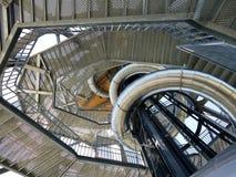 Escalera hasta la torre más alta del reloj de Austria fotografía de archivo libre de regalías