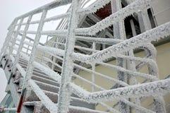 Escalera helada Imagenes de archivo