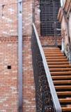 Escalera hermosa, como la entrada al edificio Foto de archivo libre de regalías