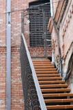 Escalera hermosa, como la entrada al edificio Imagen de archivo libre de regalías