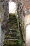 Escalera incluida en fortaleza en la isla de St. Helena Imagen de archivo